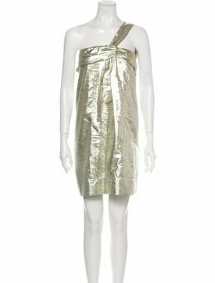 Stella McCartney One-Shoulder Mini Dress Gold