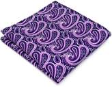 Shlax & Wing Mens Pocket Square Paisley Fuchsia Hanky Wedding