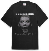 Vetements + Rammstein Oversized Printed Cotton-jersey T-shirt - Black