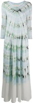 Raquel Allegra Drama tie-dye maxi dress