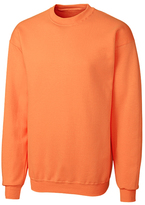Clique Neon Orange Fleece Crewneck Pullover