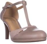 Naturalizer Megan Platform T-strap Heels, Grey Leather.