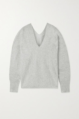 Vince Cashmere And Linen-blend Sweater - White