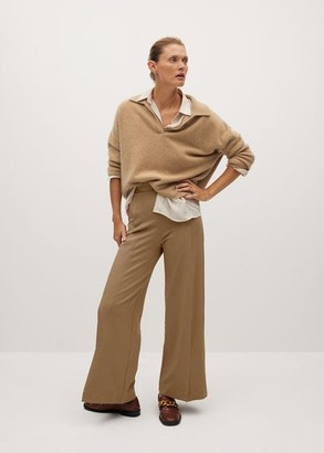 MANGO Pleat straight trousers