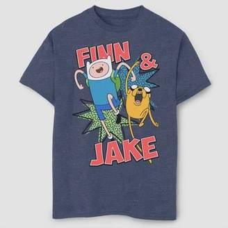 Fifth Sun Boys' Adventure Time Jake And Finn T-Shirt - Navy