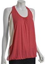 coral colorblocked jersey 'Jet Set' racerback top