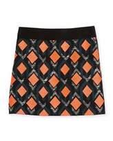 Milly Minis Diamond Jacquard Mini Skirt, Multicolor, Size 8-14