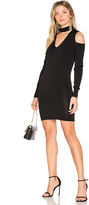 Central Park West Atlantis Cold Shoulder Sweater Dress in Black. - size M (also in S,XS)