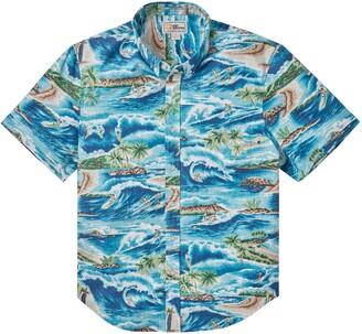 Reyn Spooner Surfin' 808 Tailored Short Sleeve Button-Down Shirt