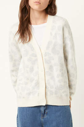 French Connection LEOPARD CARDIGAN SWEATER