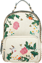 Accessorize Floral Embroidered Dome Backpack