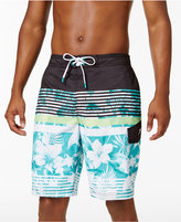 Speedo Men's Striped and Floral Board Shorts, 10""