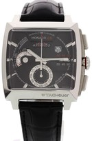 Tag Heuer Monaco Chronograph CAL2110 Stainless Steel & Leather 41mm Mens Watch