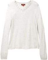 7 For All Mankind Lace-Up Pop Over Sweatshirt (Little Girls)