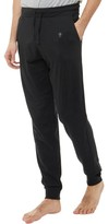 French Connection Mens FC Jogger Lounge Pants Black/Gunmetal