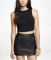 Express High Neck Sleeveless Cropped Top
