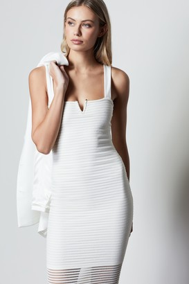 Good American Sheer Mesh Midi Dress | Ivory002