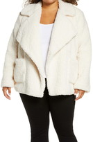 BB Dakota Soft Skills Faux Shearling Coat (Plus Size)