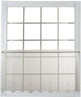 Asstd National Brand Heritage Lace Welcome Sheer Rod-Pocket Window Tiers