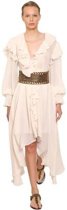 Philosophy di Lorenzo Serafini Asymmetrical Mini Dress W/ Pleats