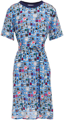 Paul Smith Printed Silk Crepe De Chine Dress