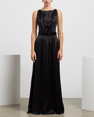 MATIN Silk Shoestring Long Dress