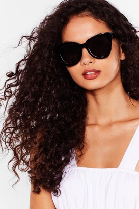 Nasty Gal Womens Over and Out Tinted Square Sunglasses - Black