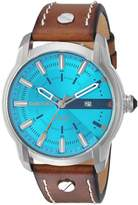 Diesel Men's 'Armbar' Quartz Stainless Steel and Leather Casual Watch, Color: (Model: DZ1815)