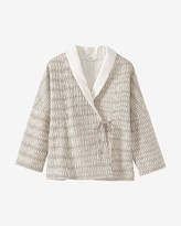 Toast Kantha Quilted Ikat Check Jacket