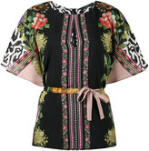 Etro Cape sleeve floral print blouse - women - Silk - 38