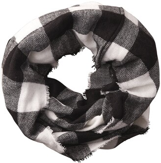Tickled Pink Accessorie's Women's Fall Winter Buffalo Check Blanket Infinity Scarf