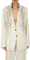 Dries Van Noten Women's George Embellished Velvet Vest-Ivory, White