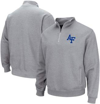 Colosseum Men's Heathered Gray Air Force Falcons Quarter-Zip Pullover Jacket