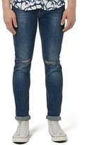 Topman Men's Ripped Stretch Slim Fit Jeans