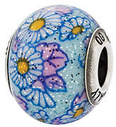 Murano Prerogatives Sterling Blue Floral Italian Bead