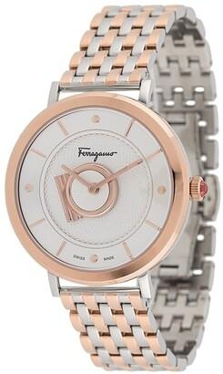 Salvatore Ferragamo Watches Minuetto two-tone watch