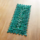 Pier 1 Imports Faux Poinsettia Leaves Teal Table Runner