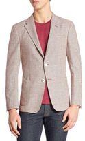 Z Zegna Micro Hound Silk Blend Jacket