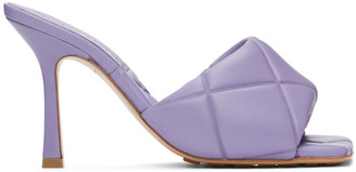 Bottega Veneta Purple The Rubber Lido Heeled Sandals