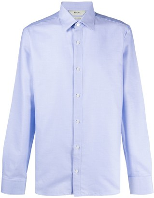 Ermenegildo Zegna Striped Long Sleeve Cotton Shirt