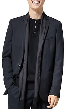 The Kooples Wool Silk Scarf Suit Jacket