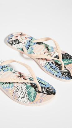 Havaianas Slim Animal Floral Flip Flops