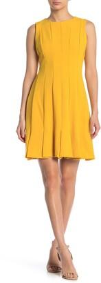Julia Jordan Pleated Sleeveless Crepe Dress
