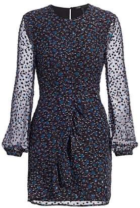 Maje Franciska Beaded Blouson Sleeve Dress