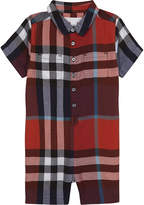 Burberry Checked short sleeve onesie