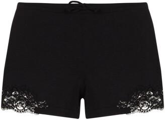 La Perla Souple lace-trim cotton shorts