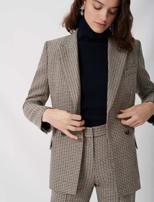Maje Checked suit jacket