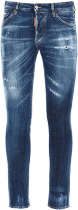 DSQUARED2 COOL GUY JEANS WITH POCKET LOGO PRINT 46 Blue Cotton