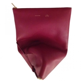 Celine Burgundy Leather Clutch bag