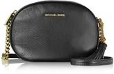 Michael Kors Ginny Black Pebble Leather Medium Messenger